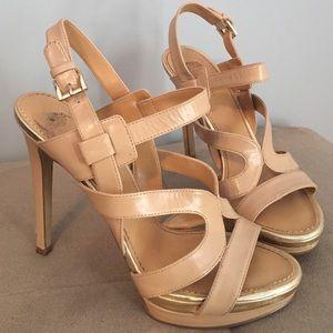 Nine West beige heels