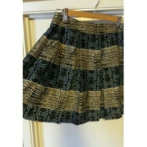 Maison Jules Printed Pleated Skirt