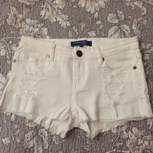 Ocean Drive Pants - Ocean Drive Distressed White Shorts
