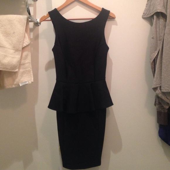Topshop Dresses Peplum Dress Black Poshmark