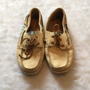 Sperry Top-Sider Shoes - Cream sperries with plaid