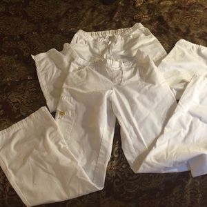 Pants - Lot of 2 white scrub pants
