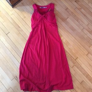 Red casual racer back dress