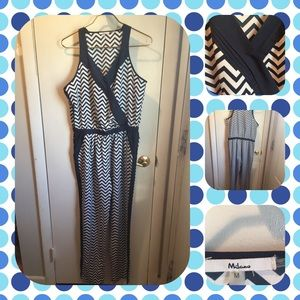Milano Pants - Navy Blue and white sleeveless jumpsuit