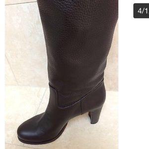 Dark brown high boots