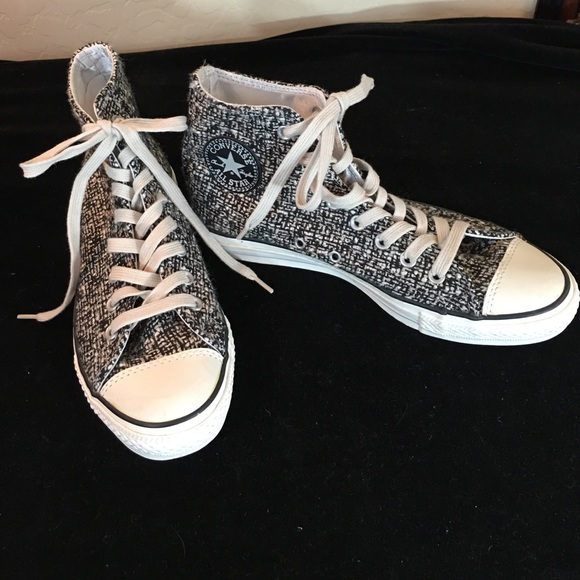 fa29cd886ec3 Converse Shoes - Converse BRAND NEW Black White Boucle High Tops