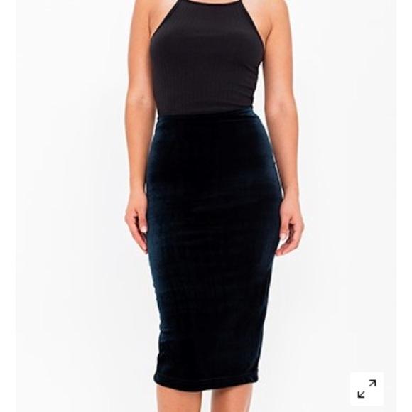 71% off American Apparel Dresses & Skirts - Brand New Velvet Mid ...