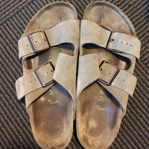 2833257fc Birkenstock Shoes - Taupe Suede Birkenstock Arizona 37