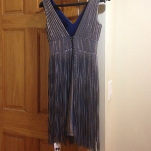 mikael aghal Dresses - Gorgeous blue and gold fridge dress!
