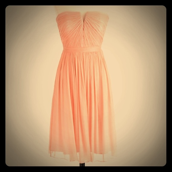 50a9eb2acd037 J. Crew Dresses & Skirts - JCrew Nadia Dress in Silk Chiffon Misty Rose