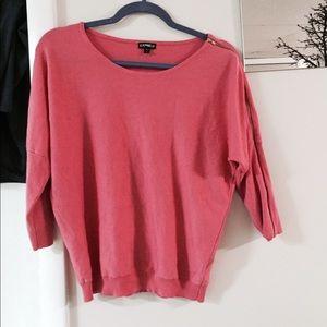 Express pink sweater