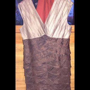 Adrianna Papell tiered cocktail dress, size 14