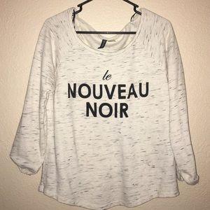 """Cute """"Le Nouveau Noir"""" H&M sweater"""