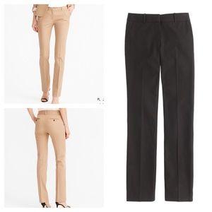 J.crew Campbell trouser in bi-stretch cotton, BLK