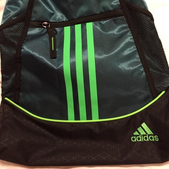 3f9689bc72d5 Buy adidas drawstring bag green   OFF63% Discounted