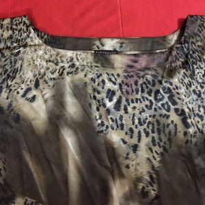 4f7ed0db06ba30 Kaelyn Max II Tops - Animal print batwing sleeve poncho top 3X