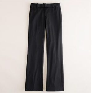 J.crew 1035 Super 120's Wool Trousers, Black, 2