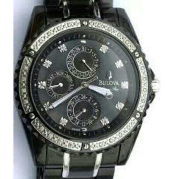 dcfb296d8 Bulova Accessories | 85off Men C960824 Diamond Accent Watch | Poshmark