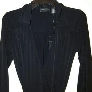Apostrophe Chic Black Wrap Dress