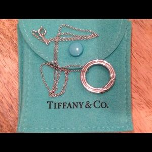 Tiffany platinum ring necklace