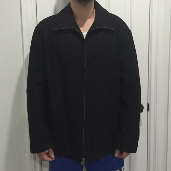 GAP - Black MENS Wool Coat from Lucy's closet on Poshmark