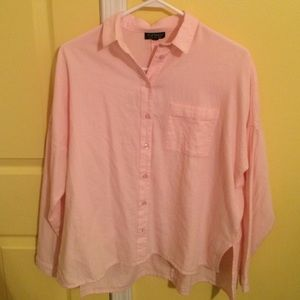 Pastel pink button down from topshop