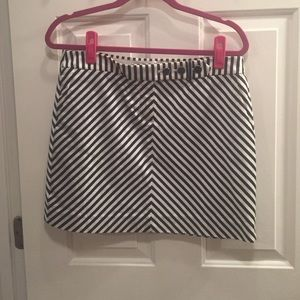 J. Crew chevron mini skirt