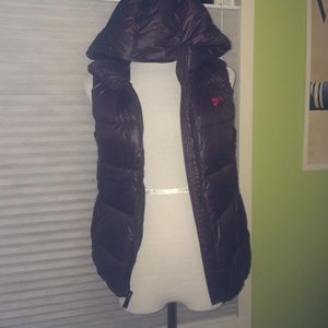 Nike brown puffy vest