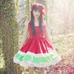 Limited Edition SWEET Juicy Red Watermelon Dress
