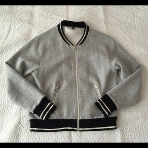 J.CREW Grey Bomber Jacket