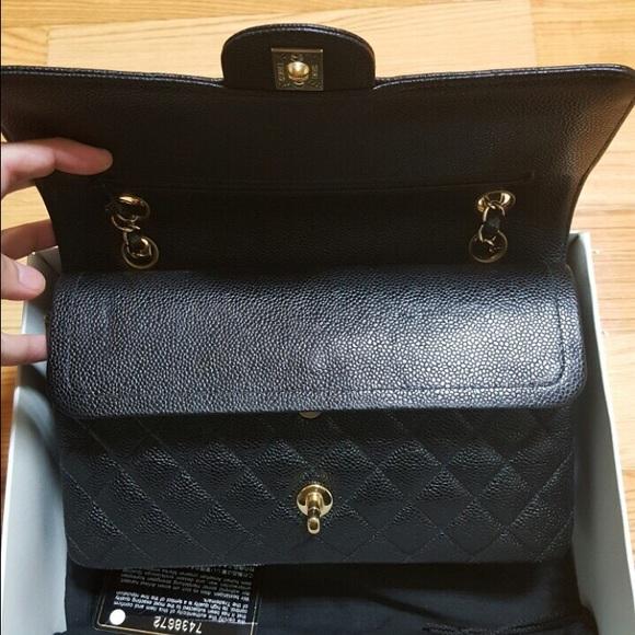 359ce0d76d22 CHANEL Bags | Soldauthentic Medium Double Flap Caviar | Poshmark