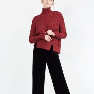 Zara Cable Knit Sweater