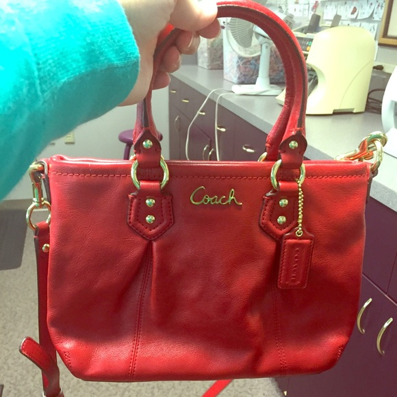 2556085038 Coach Bags | Nwot Red Leather Purse | Poshmark