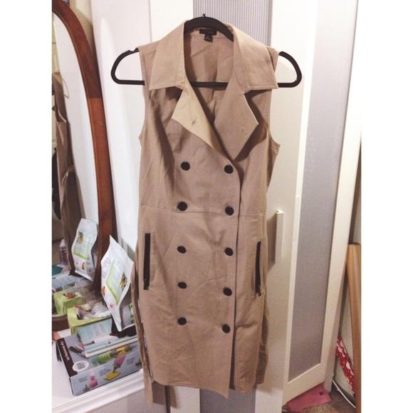 446e8a37b9a0 Ann Taylor Dresses & Skirts - Ann Taylor Sleeveless Society Twill Trench  Dress