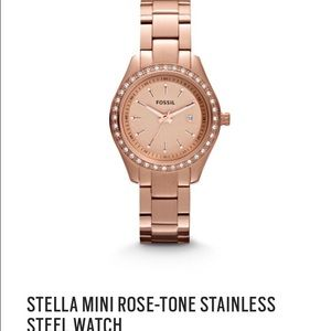 Fossil watch rose gold!