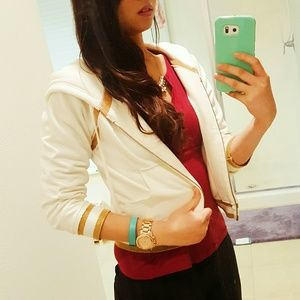 Forever 21 Jackets & Blazers - 2 for $25 flash sale! White and gold jacket