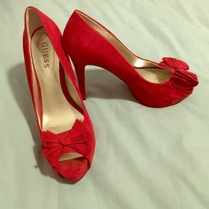 Guess Shoes - Red Guess Heels