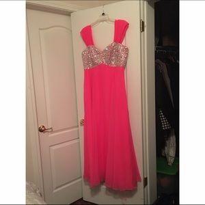 Dresses & Skirts - Pink Satan dress! For a good price