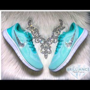 abb7bbf3e31b Nike Shoes - Swarovski Nike Free 5.0 Tiffany Blue Running Shoes
