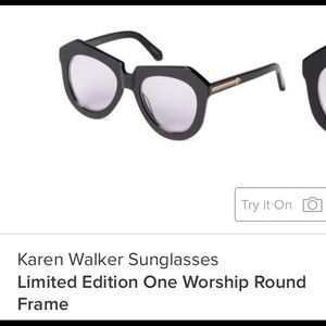 Almost new Karen Walker Limited Edition Sunnies