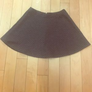Gray A-line Patterned Skirt