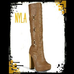 N.Y.L.A. Shoes - 🍷Fabulous!🍷NYLA Laced Tall Boots