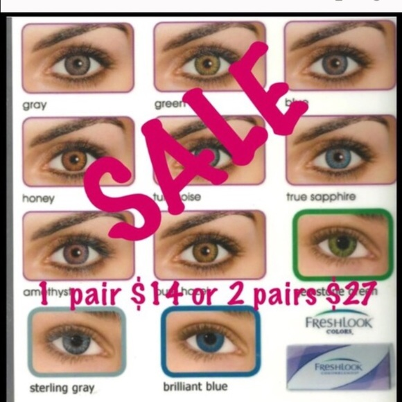 other 2 pairs of green freshlook colorblend contacts poshmark
