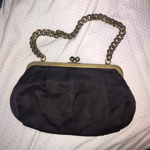 47dd11ab1c J. Crew Bags | Black Small Purse Chain Handle Snap Closure Jcrew ...