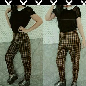 💟 Unique Vintage Plaid Pants💟