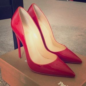 AUTH Christian Louboutin So Kate 120 Red Size 38