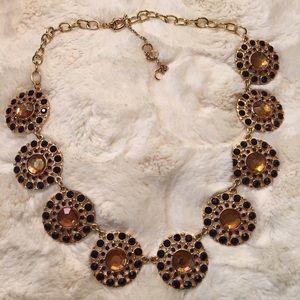 Peach & Maroon Statement Necklace