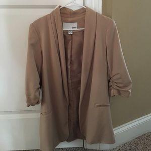 Bar III Jackets & Blazers - Bar III 3/4 Sleeve Beige Blazer