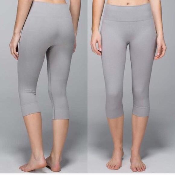 89d17f06a7141 lululemon athletica Pants - Seamless, grey lulu lemon street crop yoga pants .