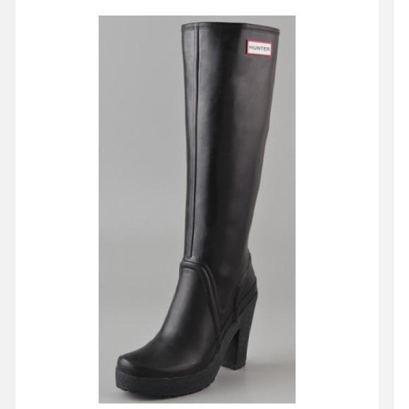 best sneakers 42de9 c5b0e Hunter high heel rain boots